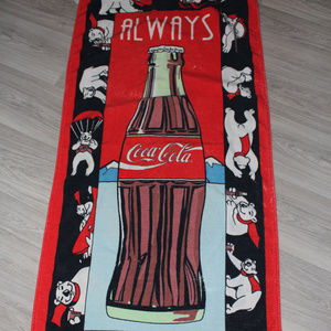 Vintage 90s Coca Cola Bear Coke Summer Beach Pool